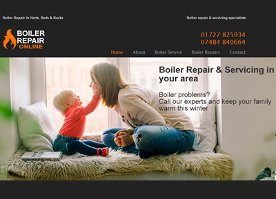 AA Boilercare - website designers St Albans
