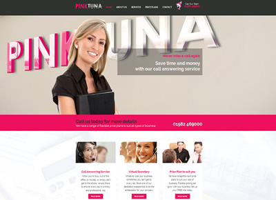 Pink Tuna - Telephone Answering Service - website design St Albans