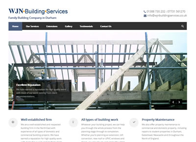 WJN Building Services - website design St Albans